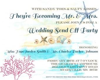Beach Wedding Send Off Party