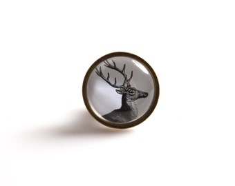 Mr Stag Drawer Knob Black and White