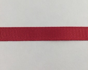 3/8 inch Red grosgrain ribbon offray