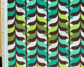 Robert Kaufman, Fancy Flight, organic cotton fabric, greens, brown, teal