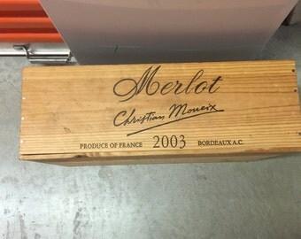 Merlot Wine Crate