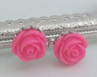 1 silver metal purse frame with sewing holes 8,5 cm, 3.3 inches, supplies, pink flower decoration, coin purse frame