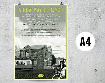 A New Way To Live - A4 Print