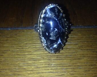 Huge 70's Goth Perfume Ring