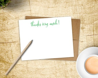 Custom Stationery. Thank You Note. Thank You Cards. Thanks Very Much! Stationery. Stationary.