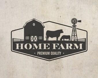 Logo Design - Vintage Logo - Business Branding - Organic food - Emblem Logo - Badge - Eco - Farm Products Logo - Organic Logo