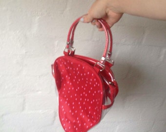 cute lil strawberry transperent bag