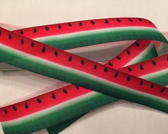 "Watermelon Grosgrain Ribbon 7/8"" Style 3"