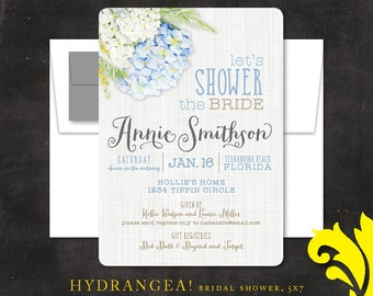 HYDRANGEA . bridal shower invitation