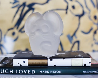 Very Tired Mouse Frosted Glass Paper Weight