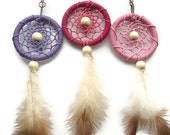 Mini dream catcher key rings / key chain car accessories native american key ring bag charm keyring accessories.