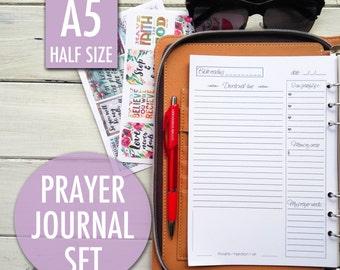 Prayer journal, bible study, christian planner, daily devotional, filofax inserts, Bible journaling, christian inserts, christian inserts