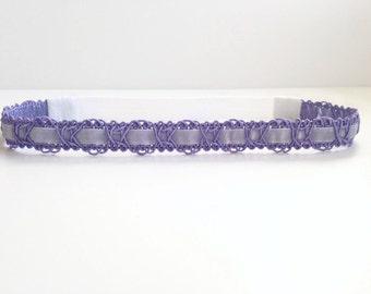 Lavender Velvet Ribbon Headband - Lavender Headband - Easter Headband - Spring Headband - Infant Headband - Toddler Headband - Purple