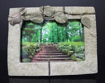 Framed Photo of Steps in Woods