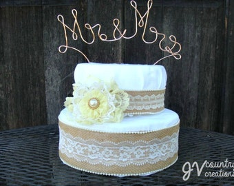 Mr and Mrs Wire Cake Topper, Mr. and Mrs Wedding Cake Topper, Wire Cake Topper, Wedding Cake Topper, Rustic Cake Topper, Rustic Wedding