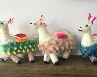 Hand knitted  Alpaca Christmas Decoration