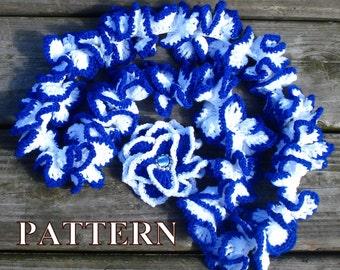 Scarf crochet pattern spiral scarf pattern crochet scarf patterns crochet ruffle scarf crochet pattern scarf OlgaAndrewDesignsPattern030