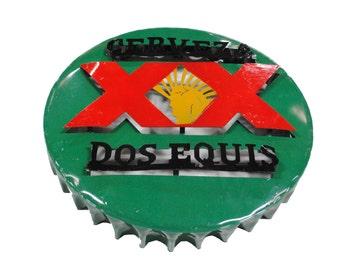 Dos Equis Bottle Cap Metal Sign - Metal Dos Equis sign - metal beer signs - Dos equis signs