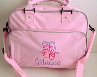 Personalised dance bag holdall, perfect little dancer gift ,dance holdall , school bag , personalised bag , birthday gift , school bag