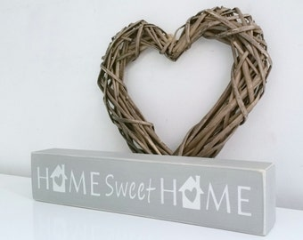 Home Sweet Home, shelf block, Shabby Chic, painted in Annie Sloan