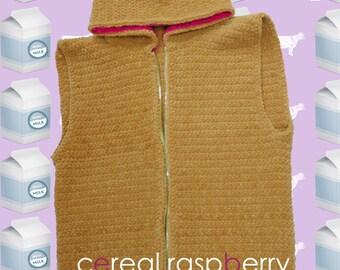 Cereal raspberry hoodie vest