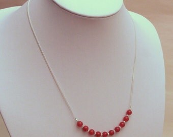 Carnelian and Silver Necklace