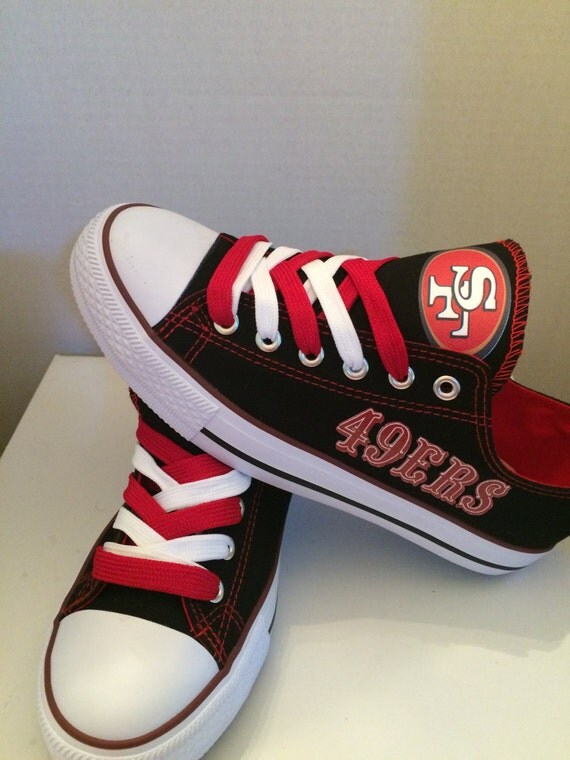 san francisco 49ers tennis shoes by sportshoequeen on etsy