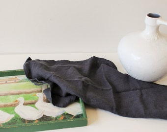 "Linen Towels, Set of Two Dark Gray Kitchen towels, 45 x 65 cm  / 18""x 26"" charcoal linen tea towels, Dish towels"