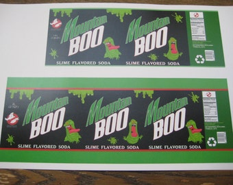 Mountain Boo 1.5L & 2L  Soda Bottle Labels [ Green ] Download File