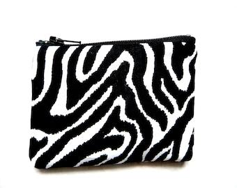 Zebra stripes coin purse