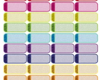 Glitter Quarter Box Stickers