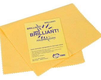 "Euro Tool ""Brilliant"" Polishing Cloths, Medium, Yellow   POL-715.00"
