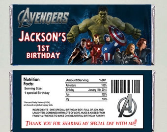 AVENGERS Candy Bar Wrappers - Printable