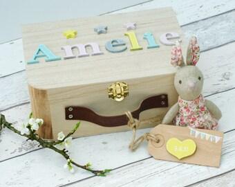 New Baby Girl Memory Box, Personalized Keepsake Box, New Baby Gift Box for Baby Items, Memory Box, New Baby,Children's Gift,Personalised Box