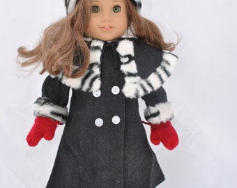 Winter Coat for 18 Inch Dolls like American Girl