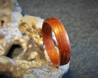 Mahogany Bent Wood Ring  SIZES: 6 6.5 9 10.5 11 11.5