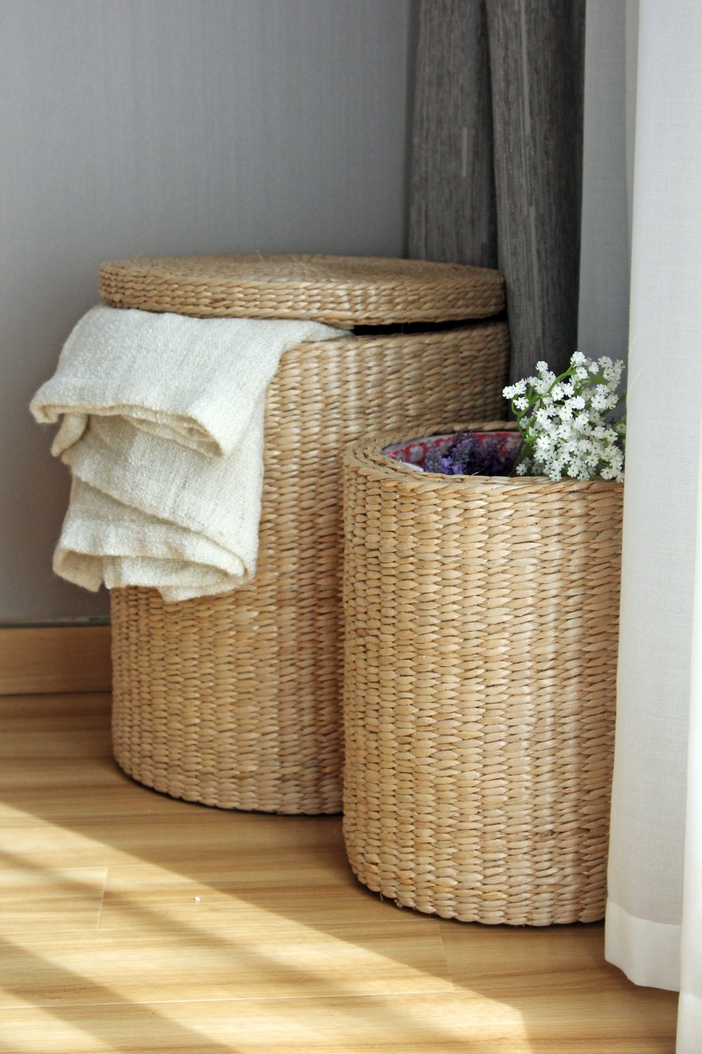 Special Offer Handwoven Round Storage Baskets Laundry