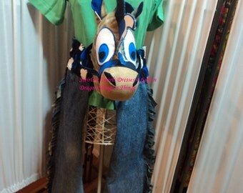 Sale Horse Play- Hands Free Hobby Horse without a Stick- CUSTOM MADE ONLY- Fun, Laughter, imaginative play, play for all.