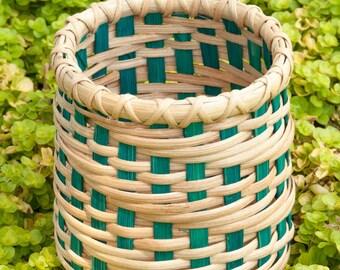 Teal and Natural Fibonacci Basket