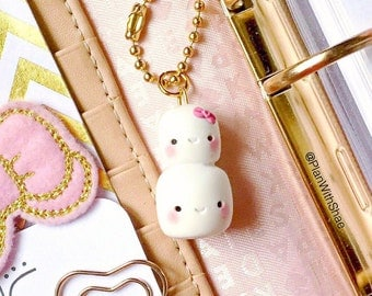 Kawaii Stacked Marshmallows Clay Charm - ShaeBooCraft