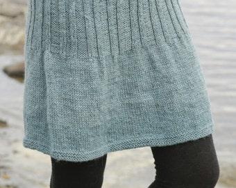 Knit wool skirt, 100% wool superwash