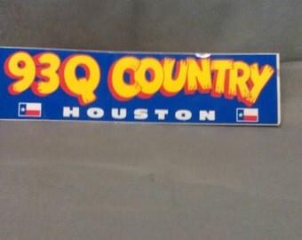 93Q Country Houston Bumper Sticker