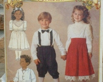 Small Boy and Girl Dress and Knickers Butterick 6504 It's Enchanting Pattern Size 1-3