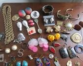 Jewellery Lot Vintage Jewellery Mixed Lot See Details -Vintage Street Sale-
