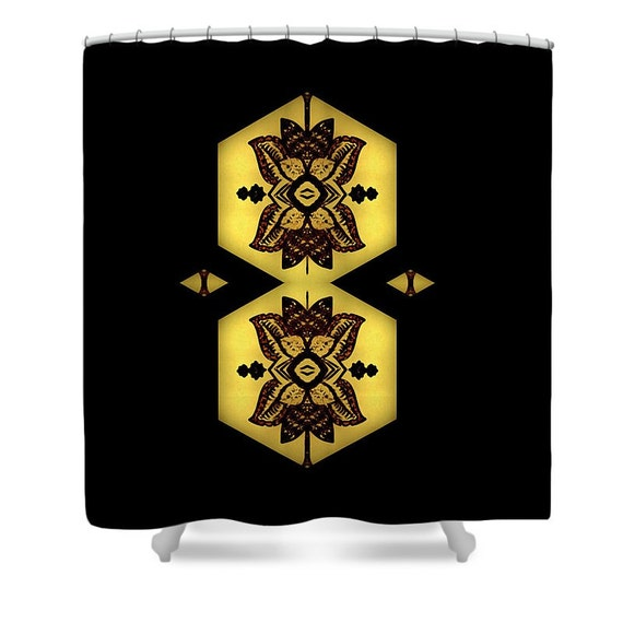 Henna Lantern Shower Curtain,Glowing Lantern Shower Curtain,Black ...