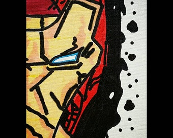 IRONMAN Painted Canvas