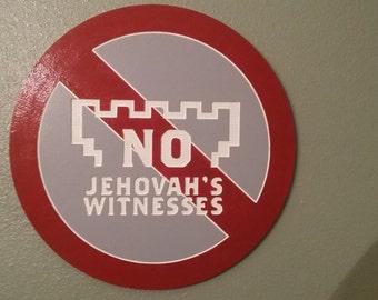 no jehovas witness sign