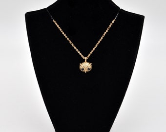 Golden Owl Charm Fashion Necklace