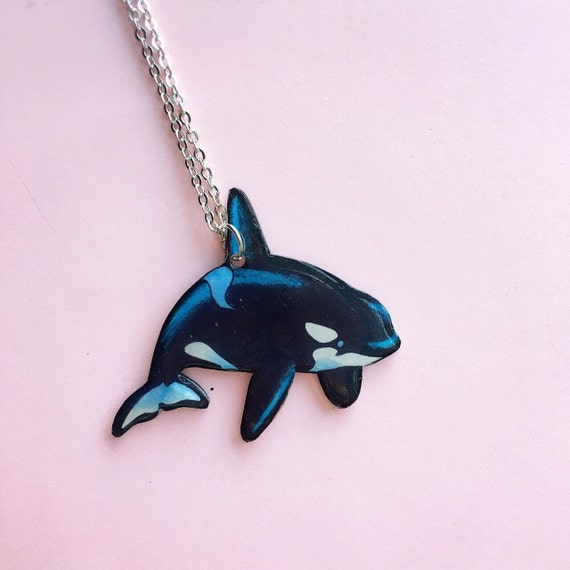 items similar to orca killer whale necklace