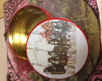 Vintage Tin Horse Sleigh